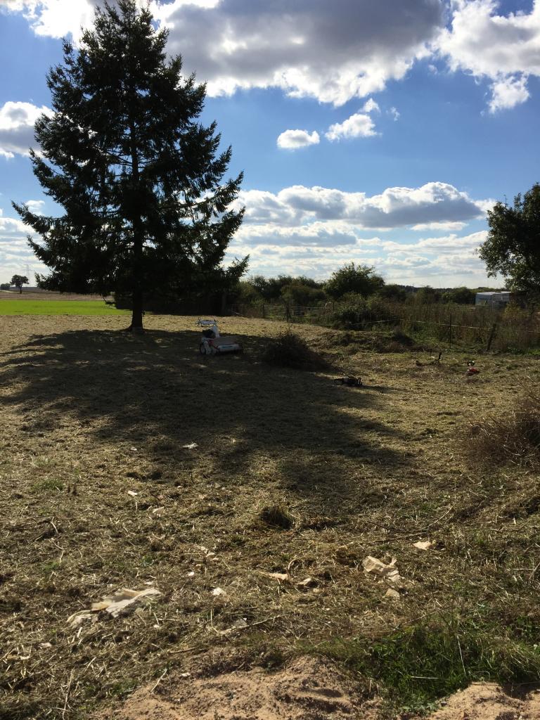 Défrichage terrain dans la Nièvre 58150 garchy aprés
